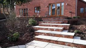Alison Bockh Garden Design and Landscaping - North Devon. New steps up to house