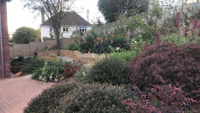 Alison Bockh Garden Design and Landscaping - North Devon - Side area after - hard landscaping and raised beds a